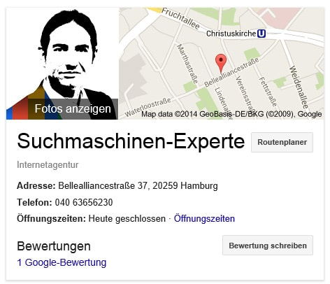 Suchmaschinenexperte in Google